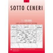 Fietskaart - Topografische kaart - Wegenkaart - landkaart 48 Sotto Ceneri | Swisstopo