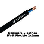 Cable RV-K 2x6mm Negro