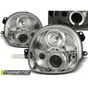Přední světla, lampy Angel Eyes Renault Twingo 93-98 chromové H1