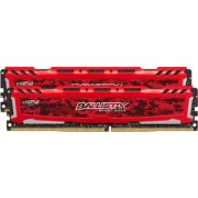 Kit Memorie Crucial Ballistix Sport LT Red 2x8GB DDR4 2400MHz CL16 Dual Channel
