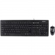 Kit tastatura si mouse A4TECH kit KRS-8372, anti-RSI, USB, negru