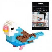 Nanoblock Animals NBC-016 - Bird (Blue Opalin) (non-LEGO)