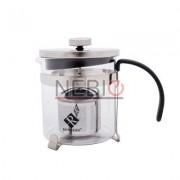 Infuzor din sticla pentru ceai sau cafea Renberg, Capacitate 600 ml, Inox