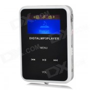 """1.1"""" TFT Digital reproductor de mp3 w / FM / TF / Mini USB / 3.5mm - Negro + Blanco + Plata"""