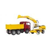 Bruder 2751 - Autocarro con cassone ribaltabile MAN TGA e escavatore