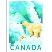 Canada Polar Bear And Cub (Playing Card Deck 52 Card Poker Size With Jokers)