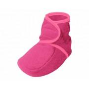 Playshoes fleece slofjes fuchsia