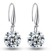 Cercei argint cristal Swarovski Simplicity