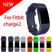 Small and Large Size silicone watch band sport Watch Strap Bracelet For Fitbit Charge 2 band men & women watchbands