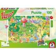 Schmidt Spiele Puzzle 56171 Sorgenfresser, nel labirinto, con poster, 100 pezzi