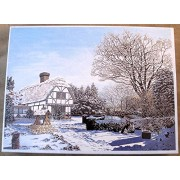 Winter Cottage From an Original Painted with the Mouth By Trevor Wells