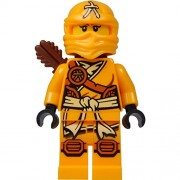 LEGO Ninjago Minifigure - Skylor Female Orange - Gold Ninja with Crossbow & Quiver (70746)