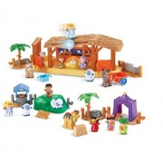 Fisher Price Christmas Nativity Playsets Manger, Three Wise Men And Lil Shepherds