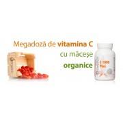 C-1000 Plus - vitamina C super concentrata cu macese organice