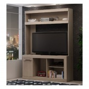 Mueble Rack Para Tv Color Terracota Ebano