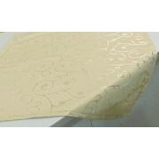 Alkalmi terítő törtfehér, organza csíkkal/017/Cikksz:01210360