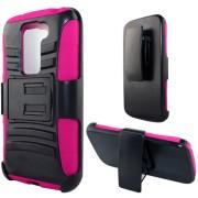 Funda Protector LG G2 Mini Mixto Rosa c / Clip