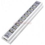 Hub USB 2.0 LogiLink UA0095 10 porturi (Alb)
