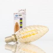 Lâmpada LED E14 4w»35W 2200K 350Lm Vela-T AMBERglass