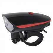 CARKING USB ciclismo bicicleta cuerno electrico super faro - rojo + negro