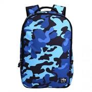 Runningtiger Camouflage Print Multipurpose Backpacks For Men Women Children Kids Schoolbags Laptop Backpack Travel Bags (Camouflage Blue)