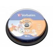Verbatim DVD-R 8CM 4X 1.46GB inkjet printable (43573), set/10 bucati spindle