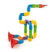 Quercetti Super Saxoflute - Build Your Own Musical Instrument - 24 Piece STEM Toy for Ages 3 and Up (Made in Italy)