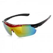 CTSmart PC gafas de sol polarizadas w / Lentes de repuesto Set - Multicolor