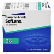 BAUSCH & LOMB Soflens 38 - 6 čoček zakřivení: 8.7, dioptrie: -1.75, průměr: 14.0