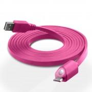 Naztech Lighted MicroUSB-kabel med Ledlampa (Magenta)