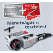 Rothenberger SUPERTRONIC 2000 Menetmetsző Készlet 1/2'-2'+ Ajándék RP 50-S Próbapumpa