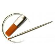 Pensule maner metalic, plata, marimea 5, art. nr.: 40016