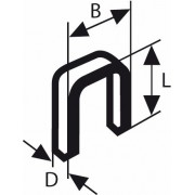 Capse cu spate îngust tip 55 cu strat de răşină 6 x 1,08 x 23 mm