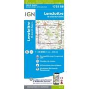 Wandelkaart - Topografische kaart 1725SB Lencloitre, St-Jean-de-Sauves | IGN