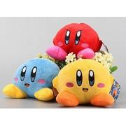 Kirby Rainbow Blue Red Yellow Set of 3 pcs Soft Plush Figure Toy Anime Stuffed Animal Child Gift Doll