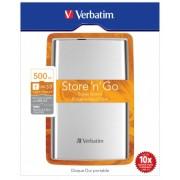 """HDD Extern Verbatim 2.5"""" 500GB/USB3.0 53021 Argintiu"""