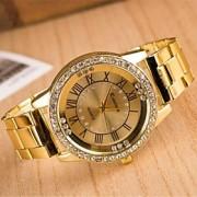 Mulheres Relógio Elegante Quartz Lega Banda Brilhante Prata / Dourada / Rose marca-