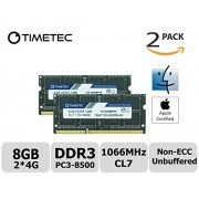 Timetec Hynix IC Apple 4GB DDR3 PC3-8500 1066MHz Memory Upgrade for iMac 21.5-inch 27-inch 20-inch 24-inch MacBook Pro 17-inch 15-inch 13-inch Mac mini 8GB KIT (2x4GB)