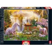 Educa Puzzle Genuine Unicorn Valley of the Waterfalls 500 de piese 16270 colorat