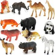 Plastic PVC Wild Animals Model Set Kids Toy Gift 12pcs Multi-color