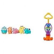 Elegant Baby Nuby bath toys bundle - Elegant Baby Forest Party Bath Squirters & Nuby Squid the Squirter Bath Tub Toy.