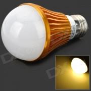 HESION HS01007A E27 7W 630lm 3500K 7-LED Warm White Light Bulb - Golden (85 ~ 265V)