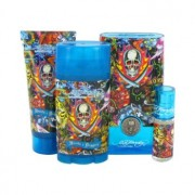 Ed Hardy Hearts & Daggers Eau De Toilette Spray + Shower Gel + Deodorant Stick + Mini EDT Gift Set Men's Fragrance 464757