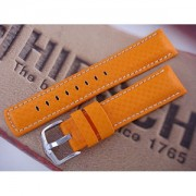 Pasek Hirsch Carbon 02592076.22mm Pomarańczowy