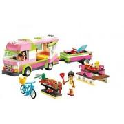 314pcs Bela 10168 Girls Friends Olivia Nicole Adventure Camper Bus Building Bricks Blocks Minifigures Toy Compatible Lego