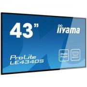 Ecran dynamique 43' LED - PROLITE LE4340S-B1 1920 x 1080 pixels 16:9 - AMVA3 - 3000:1 - 8 ms - HDMI - Haut-parleur intégré - Noir