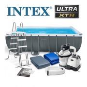 INTEX 549x274x132cm fémvázas medence szett homokszűrős vízforgatóval 28352