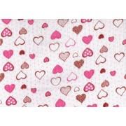Scutece bumbac, inimioare roz