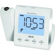 AEG MRC 4122 - Radio Despertador Proyector blanco