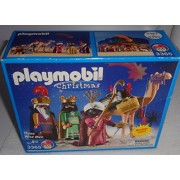 Collection Of Two Playmobil Sets: Nativity Manger # 3996 And Three Wise Men # 3365 Two Sets For One Price! The Christmas Story Book In 5 Languages!